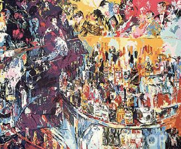 """""""Toot's Shor Bar"""" Serigraph by LeRoy Neiman"""