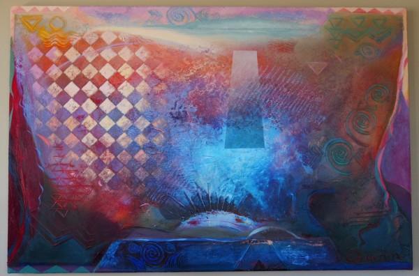 """Shiraz at Dawn"" Original Acrylic on Canvas by Richard Quinn"