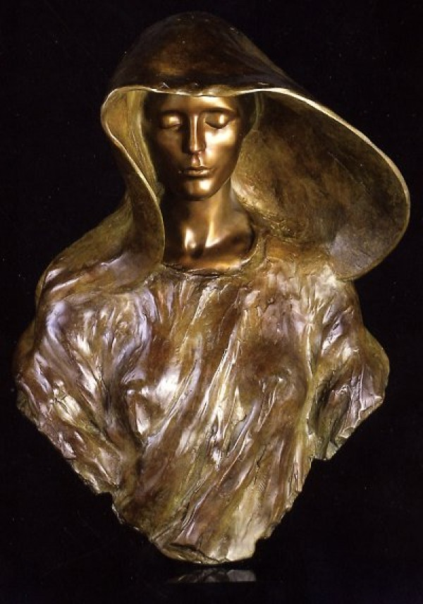 """The Source - Bust"" Bronze Sculpture by Frederick Hart"