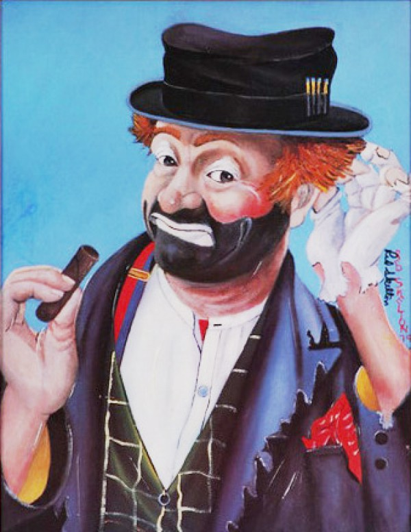 """""""The Philosopher"""" Serigraph by Red Skelton"""