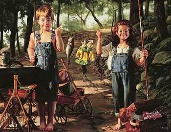 """Summer Snapshot"" Canvas Transfer by Bob Byerley"