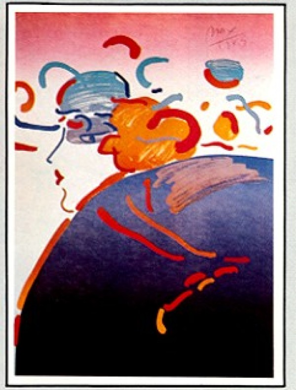 """""""Fantasy Lady"""" Lithograph by Peter Max from the Ladies of the 80's Suite"""