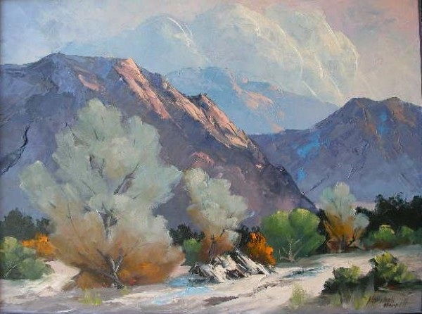 Untitled Desert Landscape Original oil on canvas by Marshall Merritt