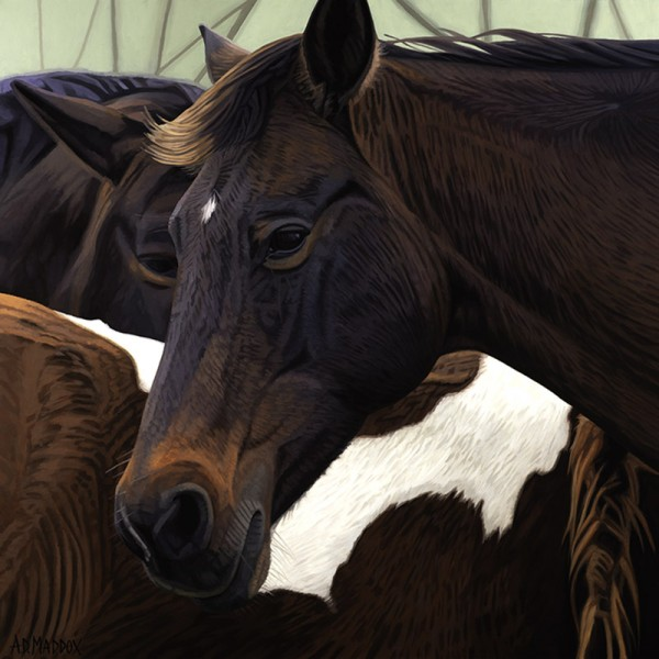 """""""Mustang Series 7"""" Giclee on Canvas by AD Maddox"""