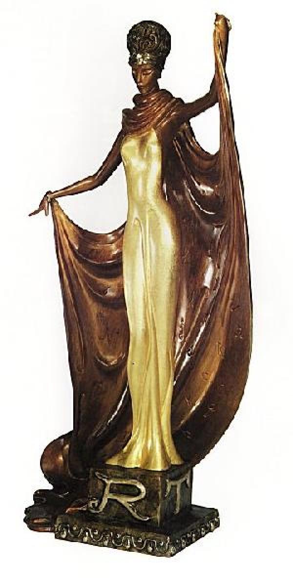 """Alphabet Lady"" Bronze Sculpture by Erte"