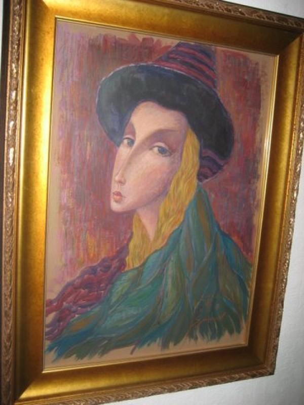 """Columbina"" Original Oil/Board by Sergey Smirnov"