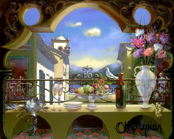 """The Dove"" Original Acrylic on Canvas by Otto Aguiar"