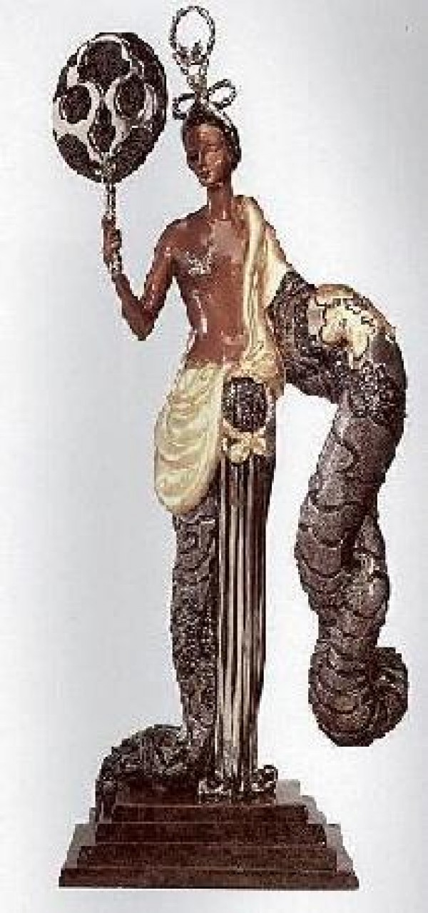 """Bamboo"" Bronze Sculpture by Erte for sale"