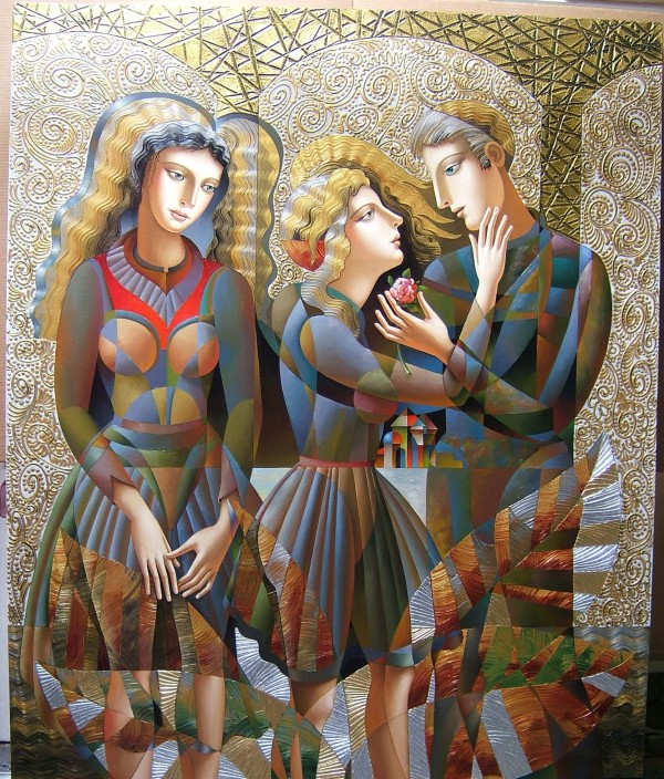 """""""A Rose For Her"""" Original Mixed Media on Canvas by Oleg Zhivetin"""