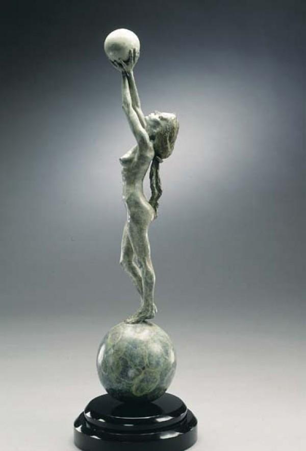 """Diana, Earth & Moon"" Bronze Sculpture by Richard MacDonald"