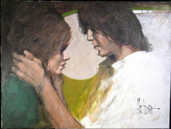 """Green"" an original painting by Aldo Luongo"