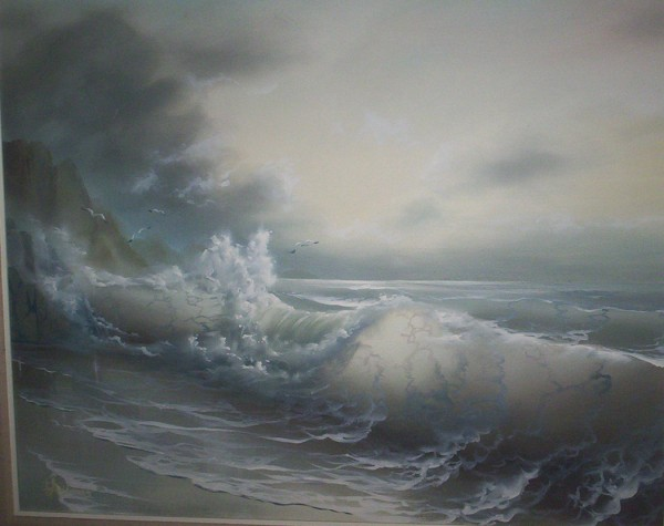 """Untitled"" (Seascape) Original by Loren D. Adams"