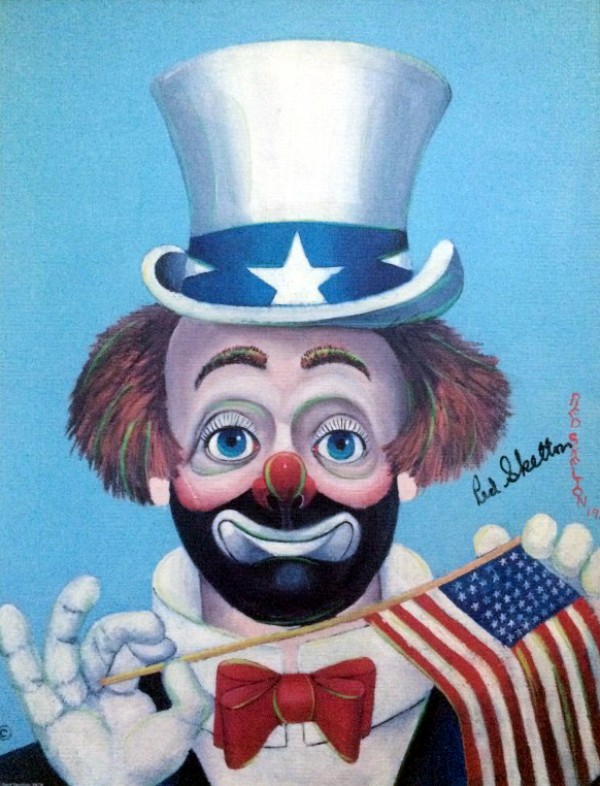 """The Pledge"" double-signed Serigraph on Canvas by Red Skelton"