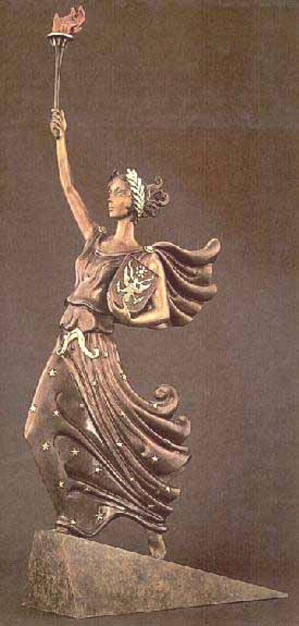 """""""Liberty, Fearless and Free"""" a Bronze Sculpture by Erte"""