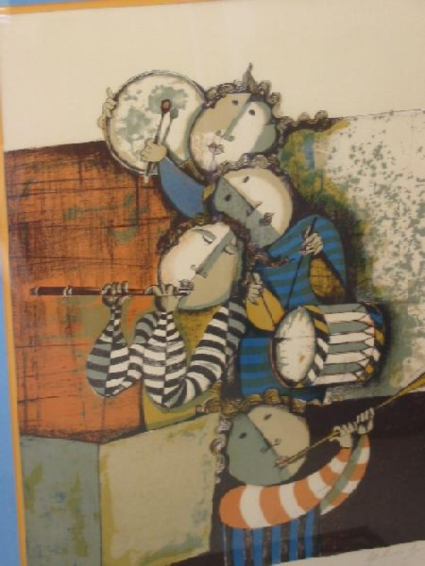 """""""Musicians - Untitled"""" Lithograph by Graciela Rodo Boulanger"""