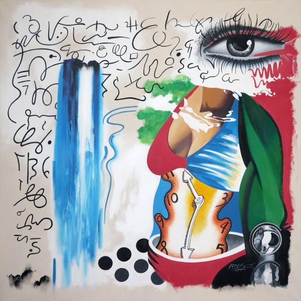 """Body of Work"" Original Acrylic on Canvas by Rick Garcia"
