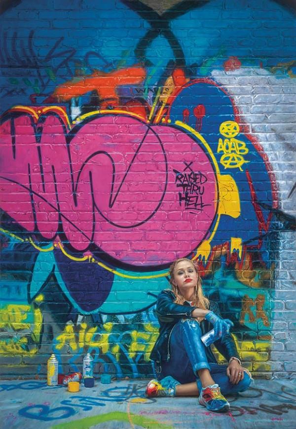 """American Graffiti"" hand-signed pigment print on archival canvas by Douglas Hofmann"