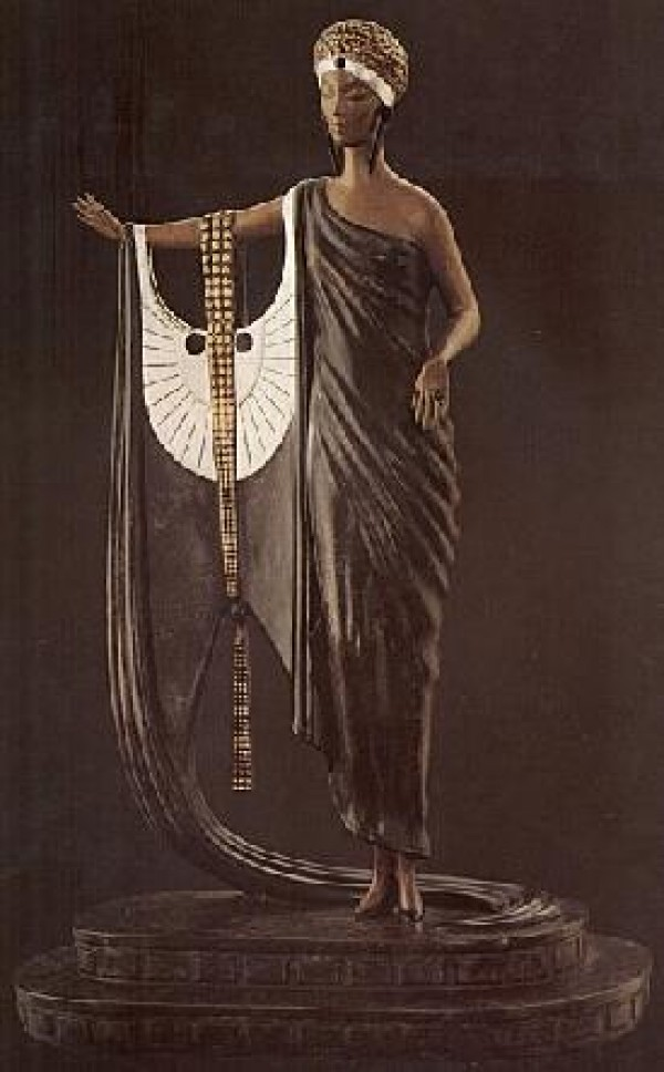 """""""Sophisticated Lady"""" 1980 Bronze Sculpture by Erte"""