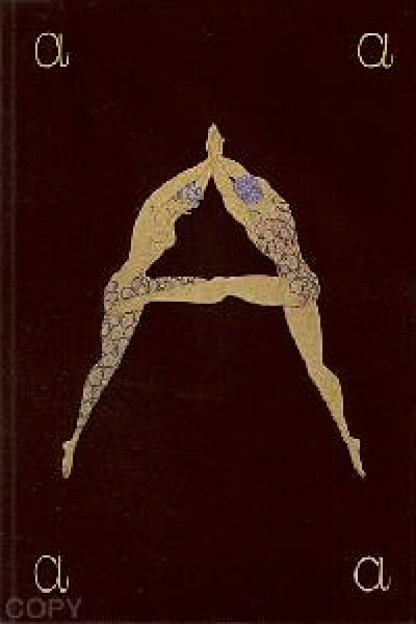 """""""Letter A"""" Serigraph/Lithograph by Erte"""