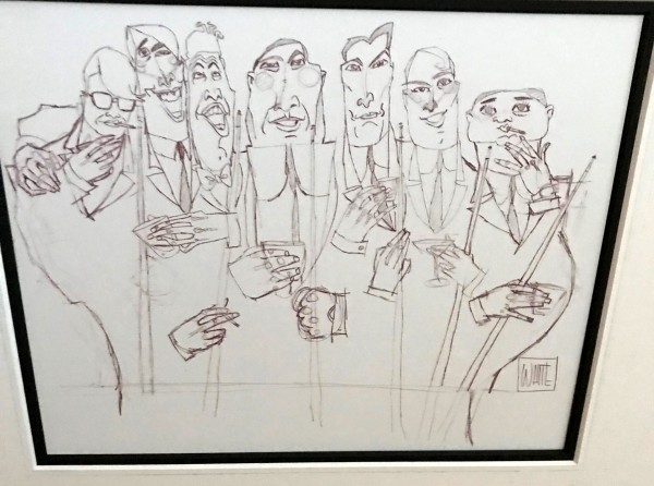 """""""DInner Meeting"""" Original Drawing by Todd White"""
