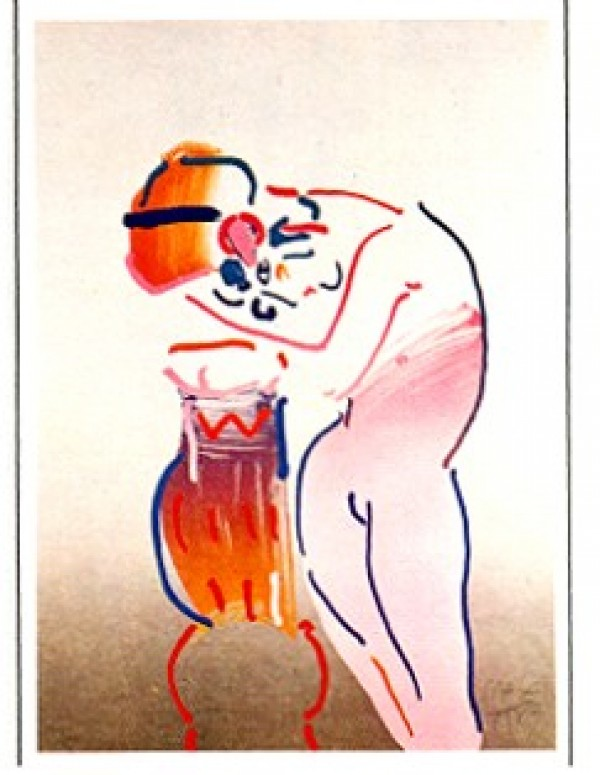 """Nude and Vase"" Lithograph by Peter Max from the Ladies of the 80's Suite"