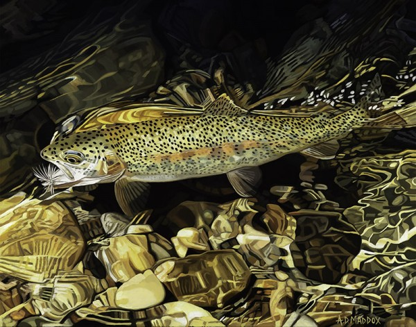"""""""Boulder River Rainbow"""" Giclee on Paper by AD Maddox"""