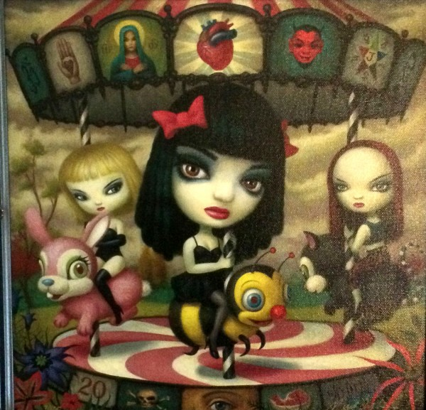 """""""CLEAR HEARTS, GREY FLOWERS"""" Giclee on Canvas by Mark Ryden"""