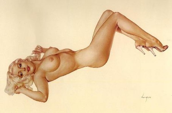 """Legacy Nude #7, """"Blonde Venus"""" Lithograph/Arches by Alberto Vargas"""