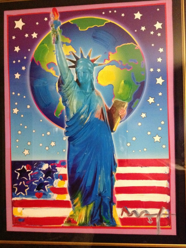 """""""Peace On Earth III"""" Mixed Media Unique Acrylic on Lithograph by Peter Max"""