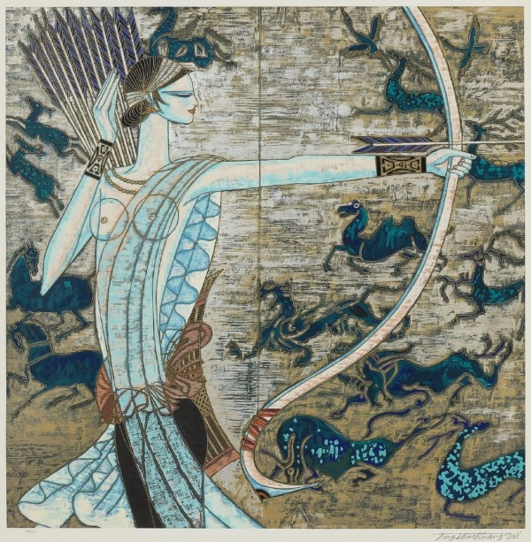 """""""Hunting Ages"""" Serigraph by Shao Kuang Ting"""