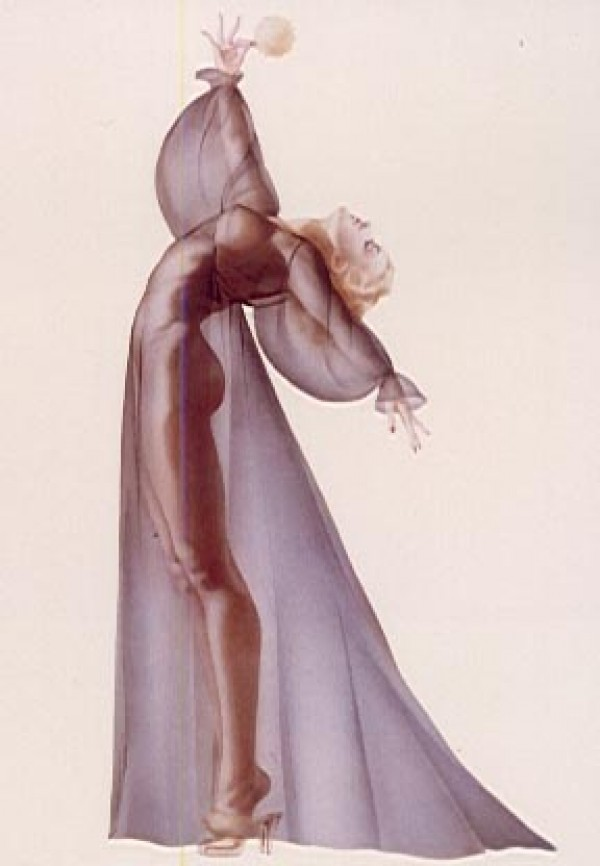 """""""Sheer Elegance"""" Lithograph/Opalesque by Alberto Vargas"""
