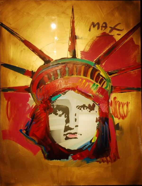 """""""Liberty"""" Unique Acrylic/Serigraph by Peter Max"""