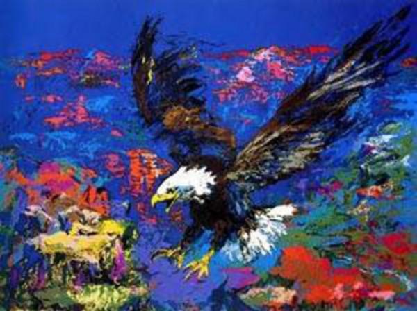 """American Bald Eagle"" Serigraph by LeRoy Neiman"