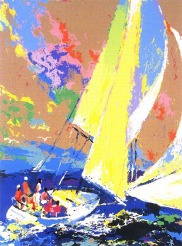 """""""Normandy Sailing"""" Serigraph by LeRoy Neiman"""