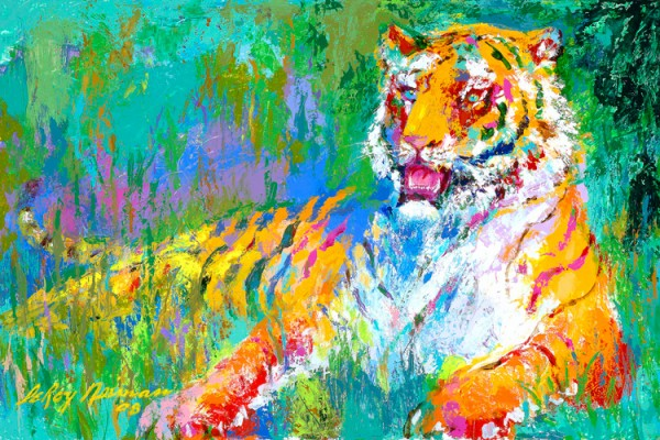 """""""Resting Tiger"""" Serigraph by LeRoy Neiman"""