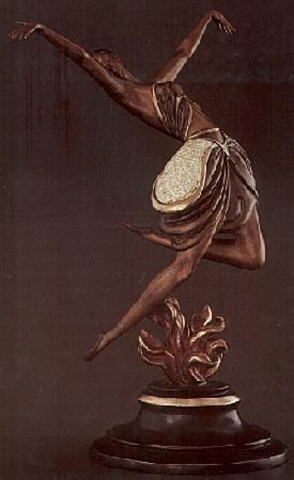 """""""La Danseuse"""" Bronze Sculpture by Erte"""