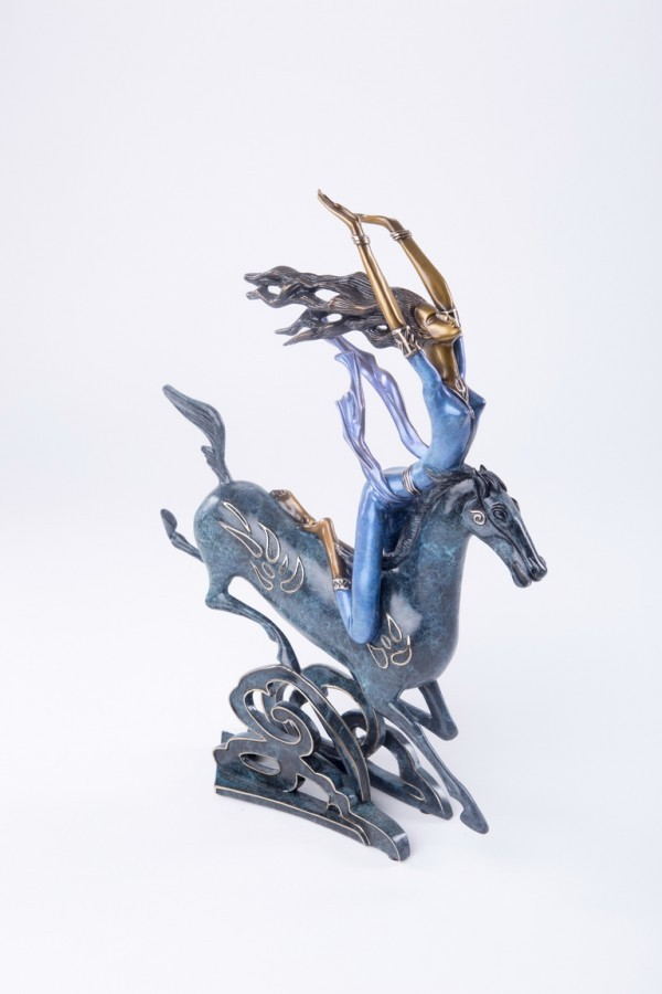 """""""Super Horse"""" Bronze Sculpture by Kuang Shao Ting"""