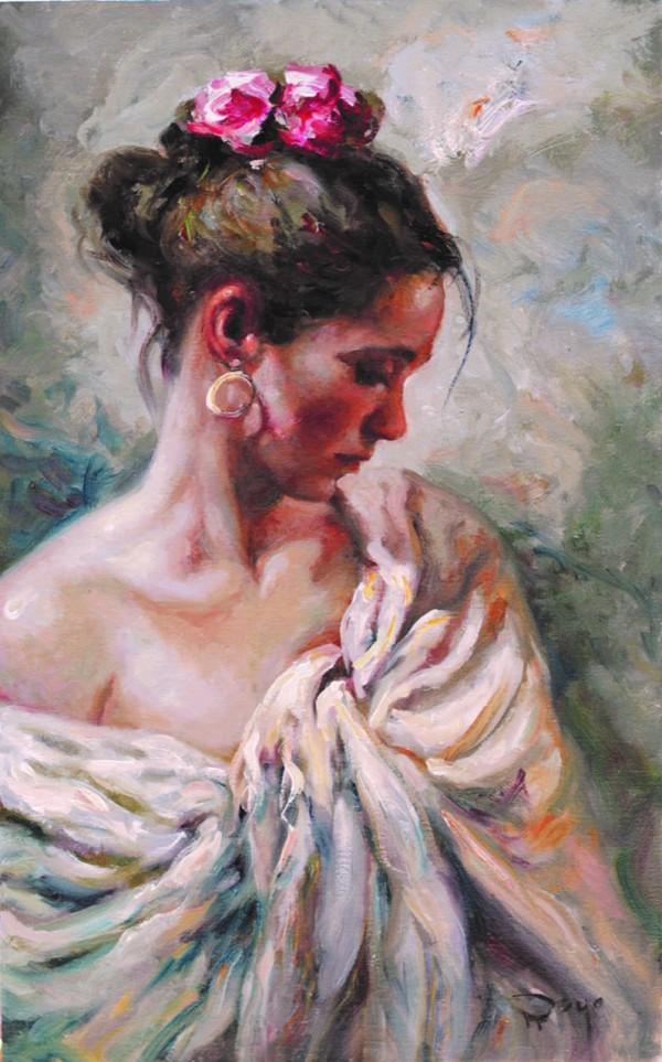 """""""Manton Blanco"""" Original Oil on Canvas by Royo"""