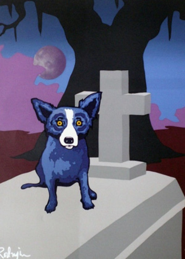 """""""Moon of the Loupe-Garou"""" Silkscreen by Blue Dog Artist George Rodrigue Wanted"""