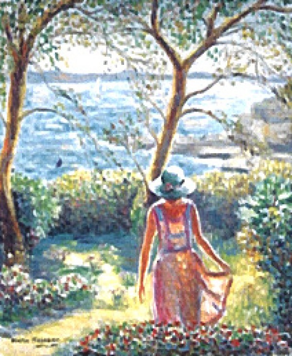 """Isabelle a Golfe"" Original Pastel on Paper by Katia Pissarro"