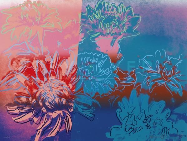 """Kiku 309"" Silkscreen by Andy Warhol"