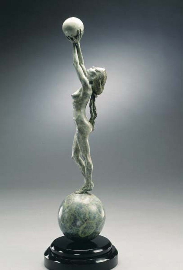 """Diana Earth & Moon"" Bronze Sculpture by Richard MacDonald"