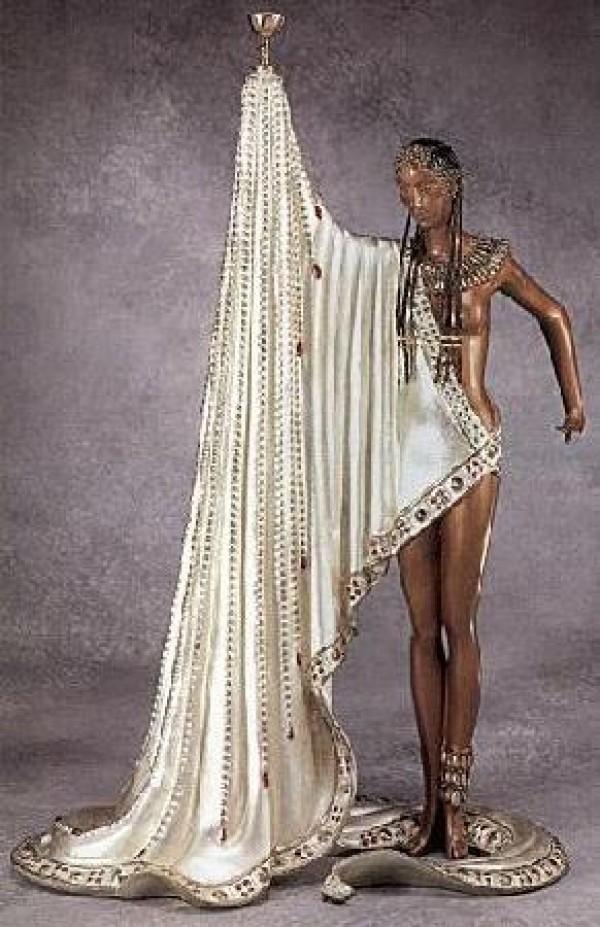 """The Slave"" bronze sculpture by Erte"