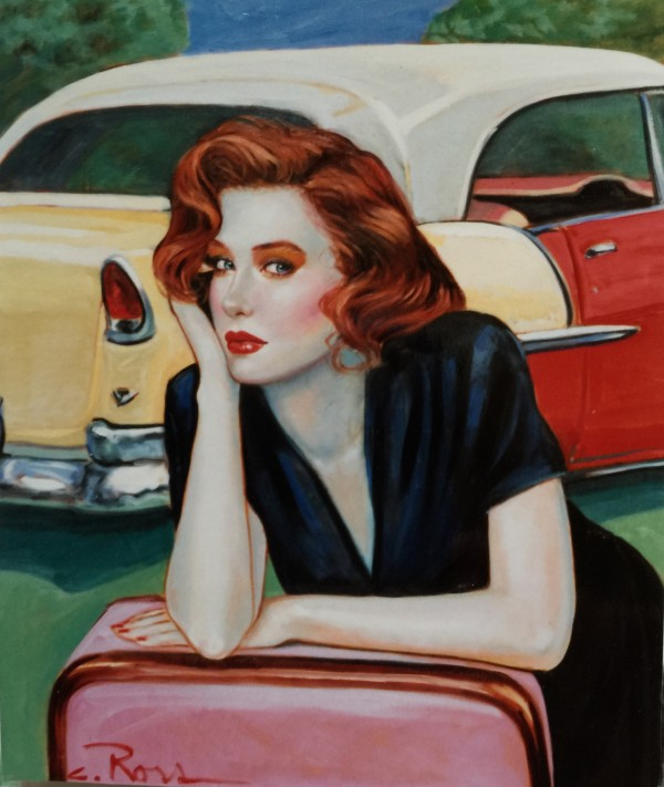 """""""Don't be Cruel"""" Original Oil on Canvas by Colleen Ross"""