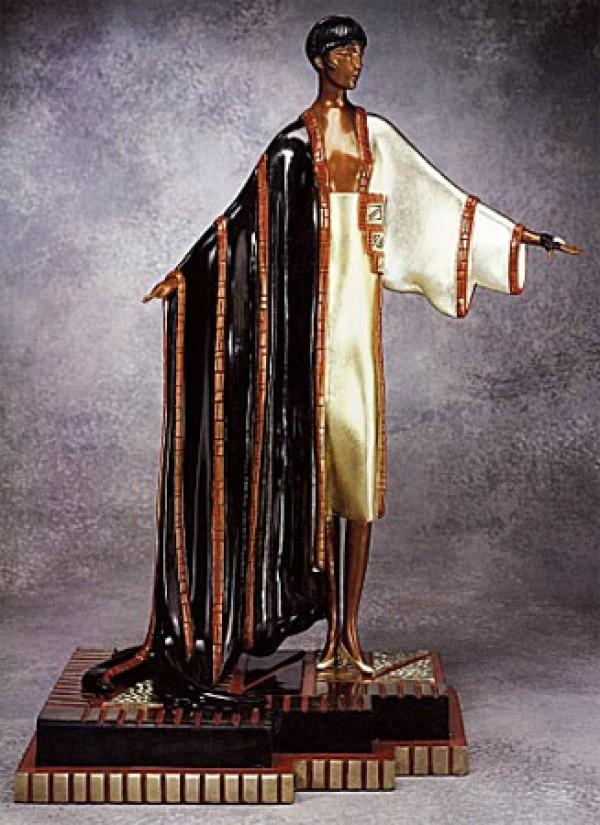 """""""Michelle"""" Bronze Sculpture by Erte"""