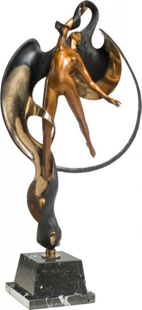 """Leda"" 1987 bronze sculpture by Angelo Basso"