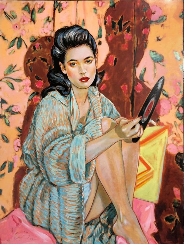 """Heartbreaker"" Original Oil on Canvas by Colleen Ross"