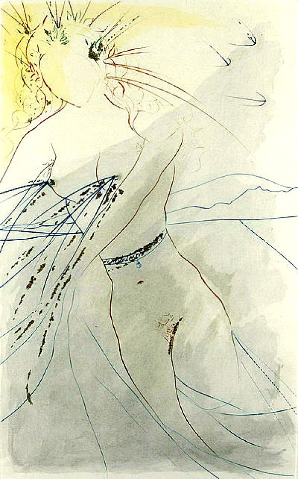 """""""Thou art all fair my love"""" etching by Salvador Dali"""
