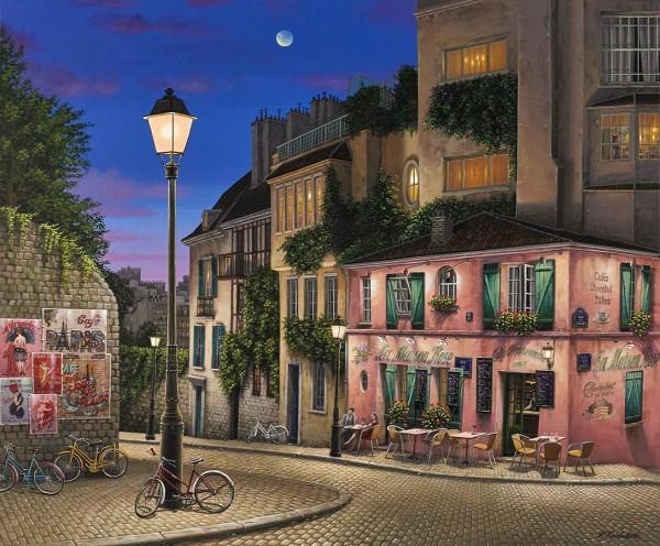 """La Maison Rose"" Digital Pigment Print on Canvas by Liudmila Kondakova"