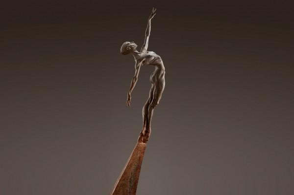 """Allonge - Female"" Bronze Sculpture by Richard MacDonald"